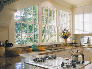 Awesome-Chic-And-Beautiful-Kitchen-Window-Decorating-Ideas-In-Classic-White-Design-