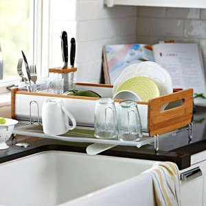 Best-Dish-Drainer-Racks-Kitchen-Drainer-Racks-Reviews-Dish-Bamboo-Dishrack-With-Awesome-And-Beautiful-Accessories-Rack-Kitchen-Design