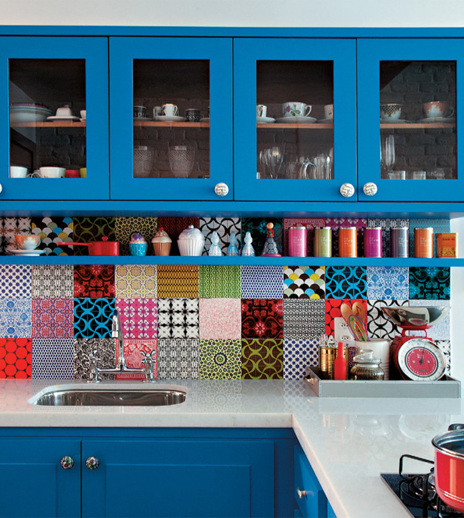 Kitchen Wall Tile Backsplash: Colorful Kitchen Decoration Backsplash Tiles