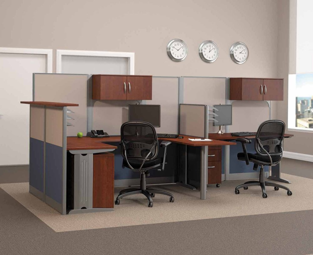 Bush Office Furniture Straight And U Workstation