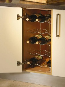 Chrome-Single-Wine-Rack-With-Awesome-And-Beautiful-Accessories-Rack-Kitchen-Design