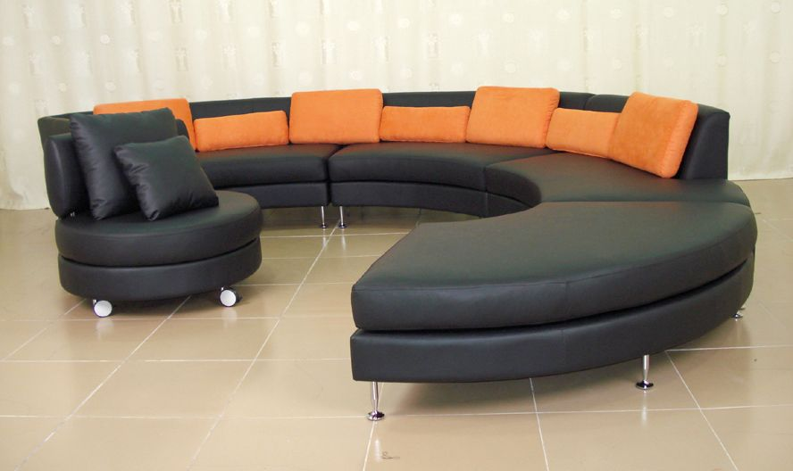 semicircular sofa design ideas. Black Bedroom Furniture Sets. Home Design Ideas