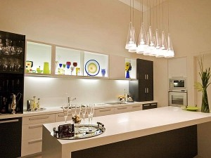 Creative-Kitchen-Lighting-Ideas-with-Glass-Cones-Lampshade-Design