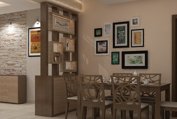 Living Room And Kitchen Partition Design
