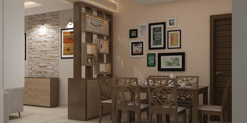 Modern room partition designs for Dining hall wall design