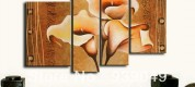 Free-Shipping-100-Handmade-New-Group-Canvas-Picture-Large-Flower-Art-Oil-Painting-font-b-Decoration