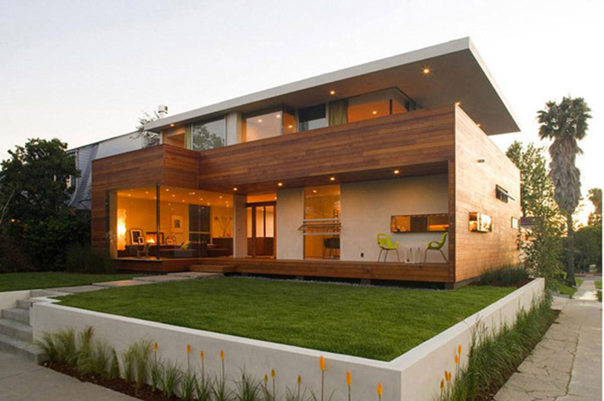 Best front elevation designs 2014 for Simple modern wood house