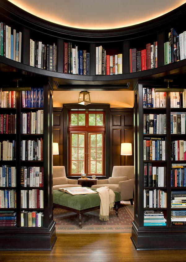 Library Design Ideas Part - 18: Home-Library-Design-Ideas-05-1-Kindesign