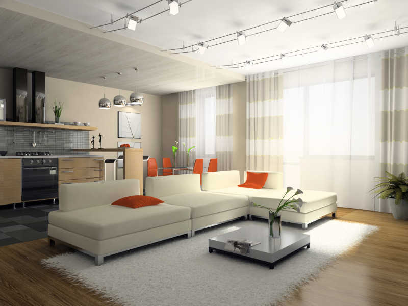 Interior Of The Stylish Apartment 3d Rendering