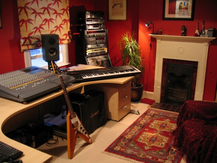 Marvelous Home Recording Studio With Fireplace With Best Exclusive