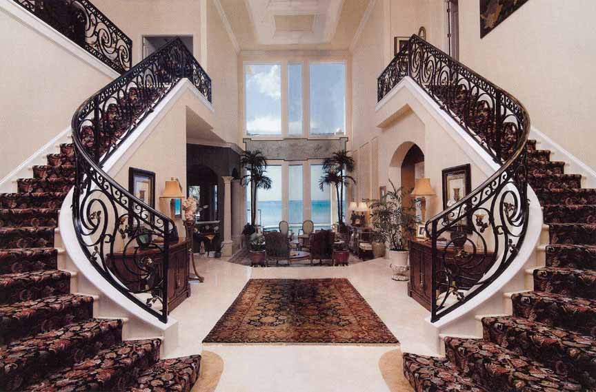 Beautiful Staircase Interior The Straight Run Stairs Are The Stairs Used Most In New Home
