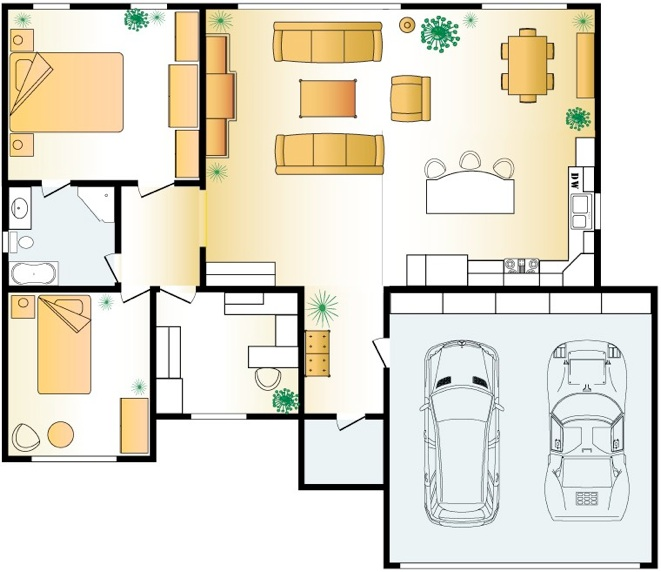 2d home design. L1 Importance of 2D floor layout in Interior Design