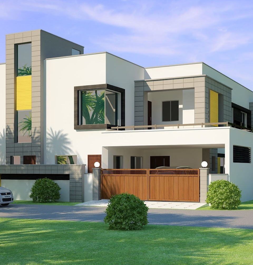 Front Design Of House Construction In India Part - 32: Kothi Design New Is The Latest Design Which Is Constructed In Lahore,  Punjab. This Beautiful Design Has Basement Too And Has 5 Bedrooms With  Attachu2026