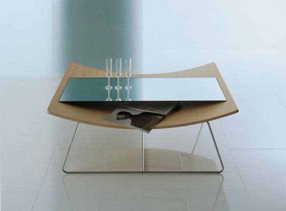 Glass furniture table designs Designer glass coffee tables