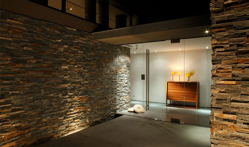 Interiors With Stone And Brick Work Designing