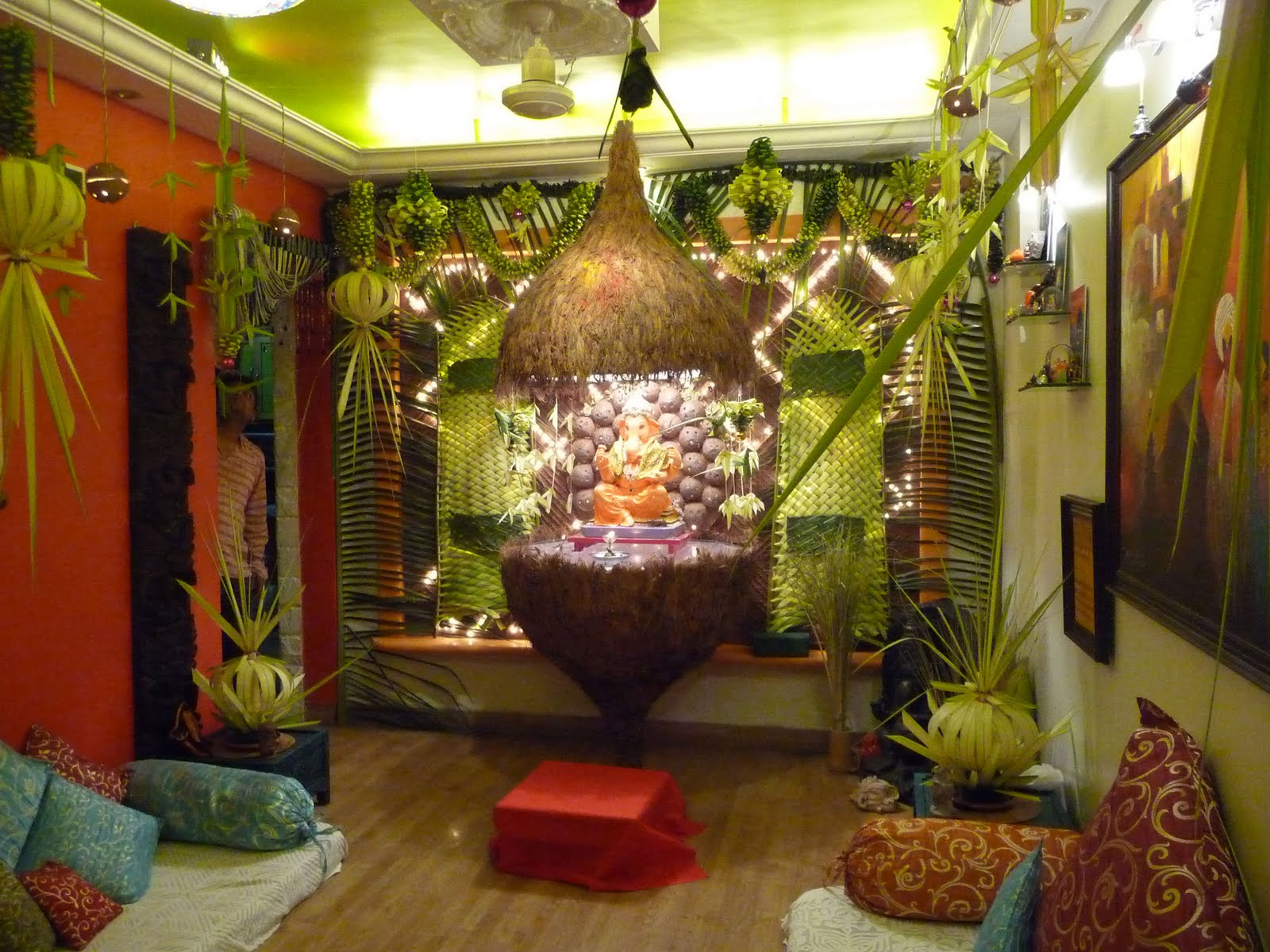 Ganesh chaturthi decoration ideas for home Latest decoration ideas