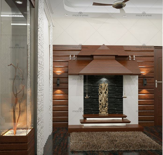 Dedicate A Wall Of Your Living Room To Build This Classy Pooja Room. Go For  The Step Concept Design; Add Proper Lights To Keep It Bright And Visually  ... Part 14
