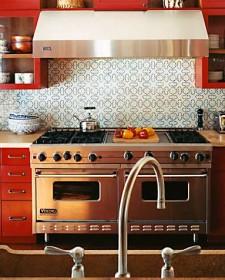 Colorful kitchen decoration backsplash tiles