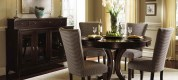 Round-Dining-Room-Sets-Design-Ideas-with-wooden-cabinet