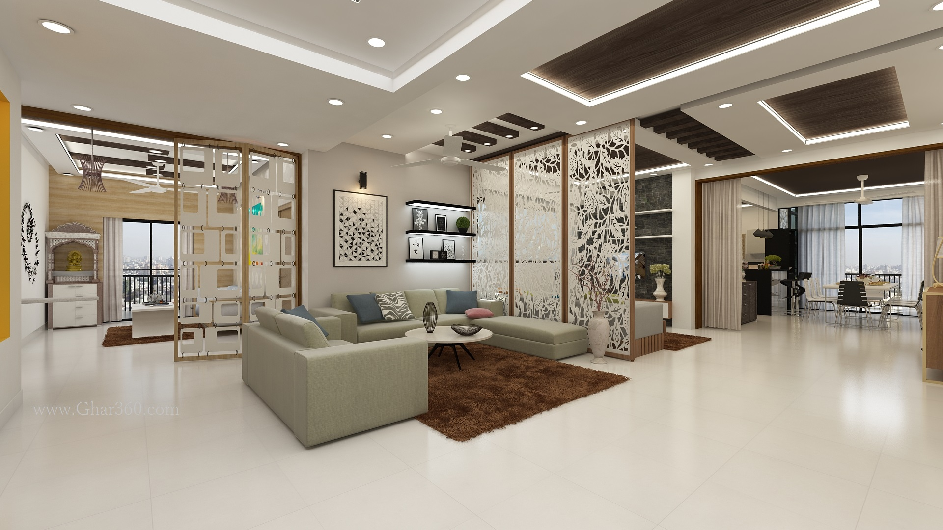 Luxury interior design by ghar360 best interior design for Best names for interior designing firm