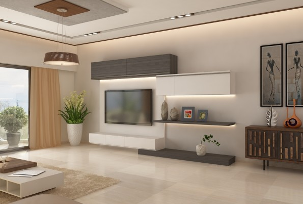Ghar360 portfolio 2 bhk apartment interior design in jp for Small house design in kolkata