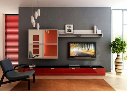 Attractive 7 Cool Contemporary TV Wall Unit Designs For Your Living Room