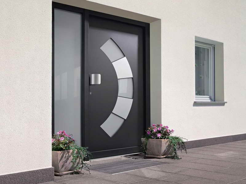 Various choice of the entrance door design with artistic for Office main door design