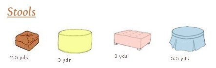 Yardage for Stool Upholstery