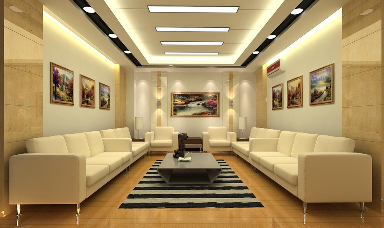 Charming Yellow Noble Reception Hall Design Rendering