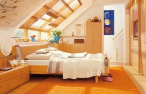 amusing-warm-attic-bedroom-design