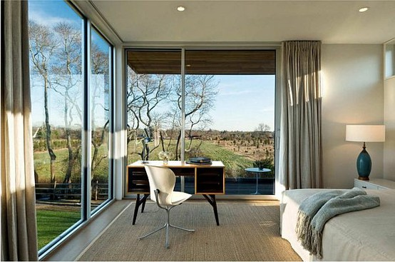 Stylish bedrooms with large windows for a better living for Modern house curtains