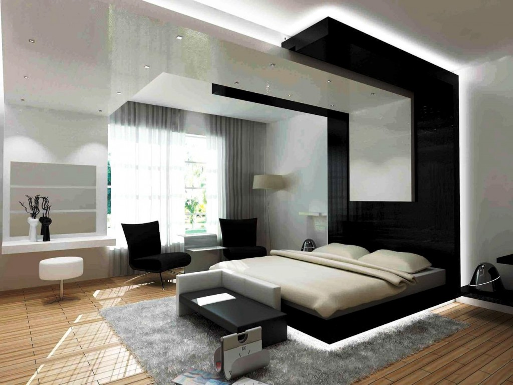 Black white combo for interiors - How to decorate a modern bedroom ...