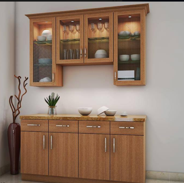 Living Room Cabinet Design In India: Modern Crockery Cabinet Designs