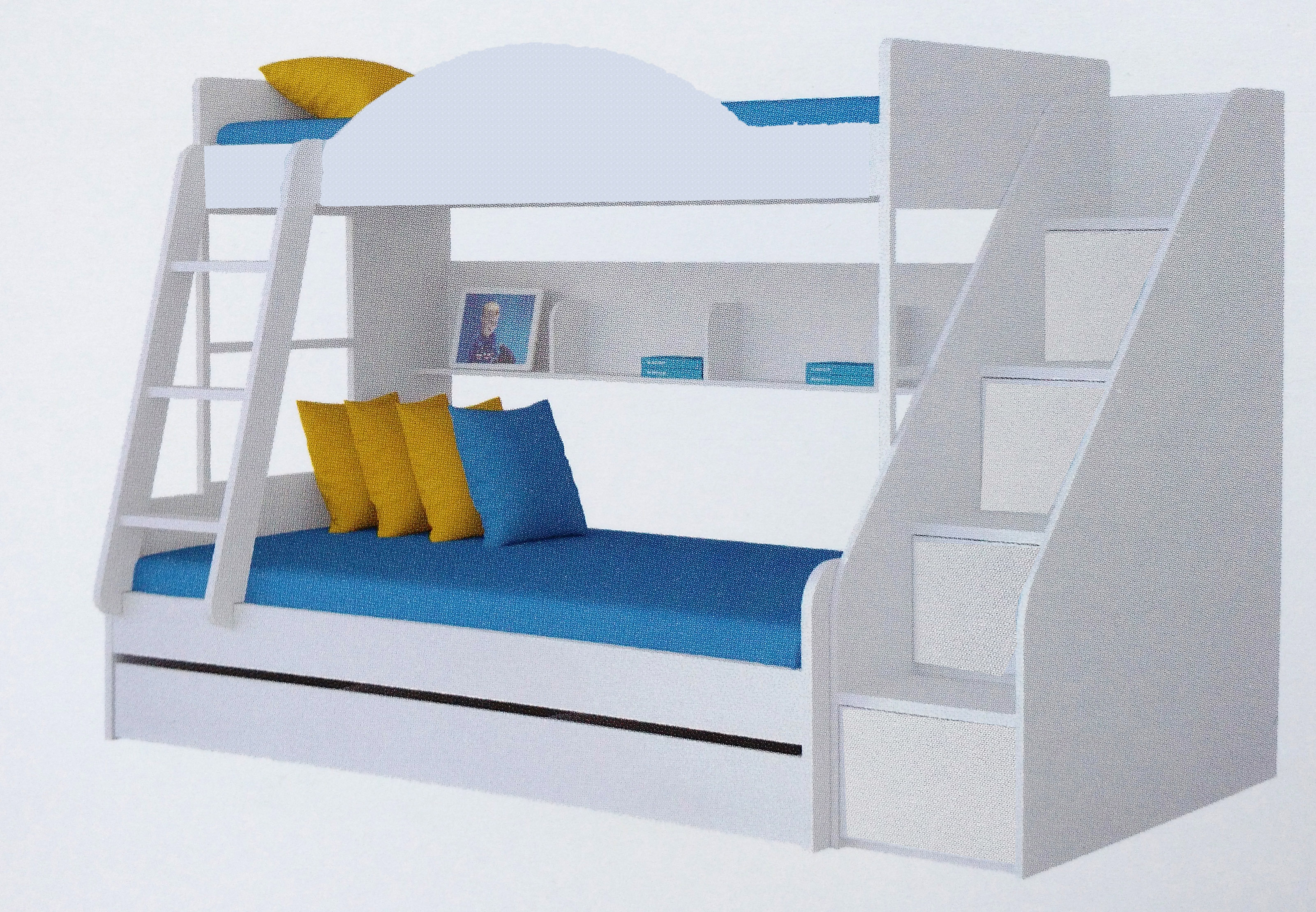 twin over twin bunker bed these are referred to as standard bunk beds as the name says a twin over twin bunk bed is made of two twin size 39 x 75 - Bunkers Loft Bed