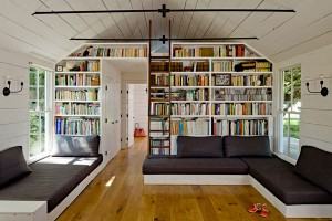 cool-home-library-in-attic