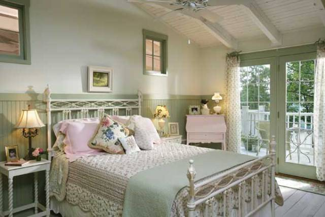 Cottage bedroom design ideas - Chic country house architecture with adorable interior design ...