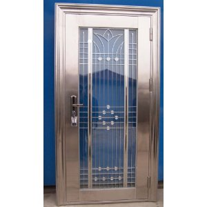 Laminate your doors with metal designs for Metal entry doors