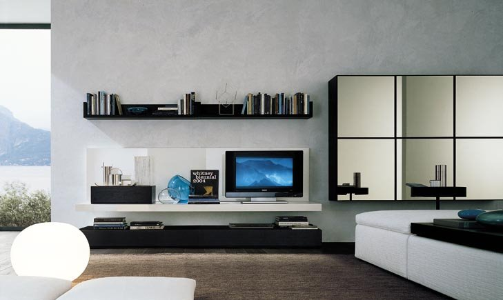 decorative living room media centre wall panel lcd - Media Wall Design