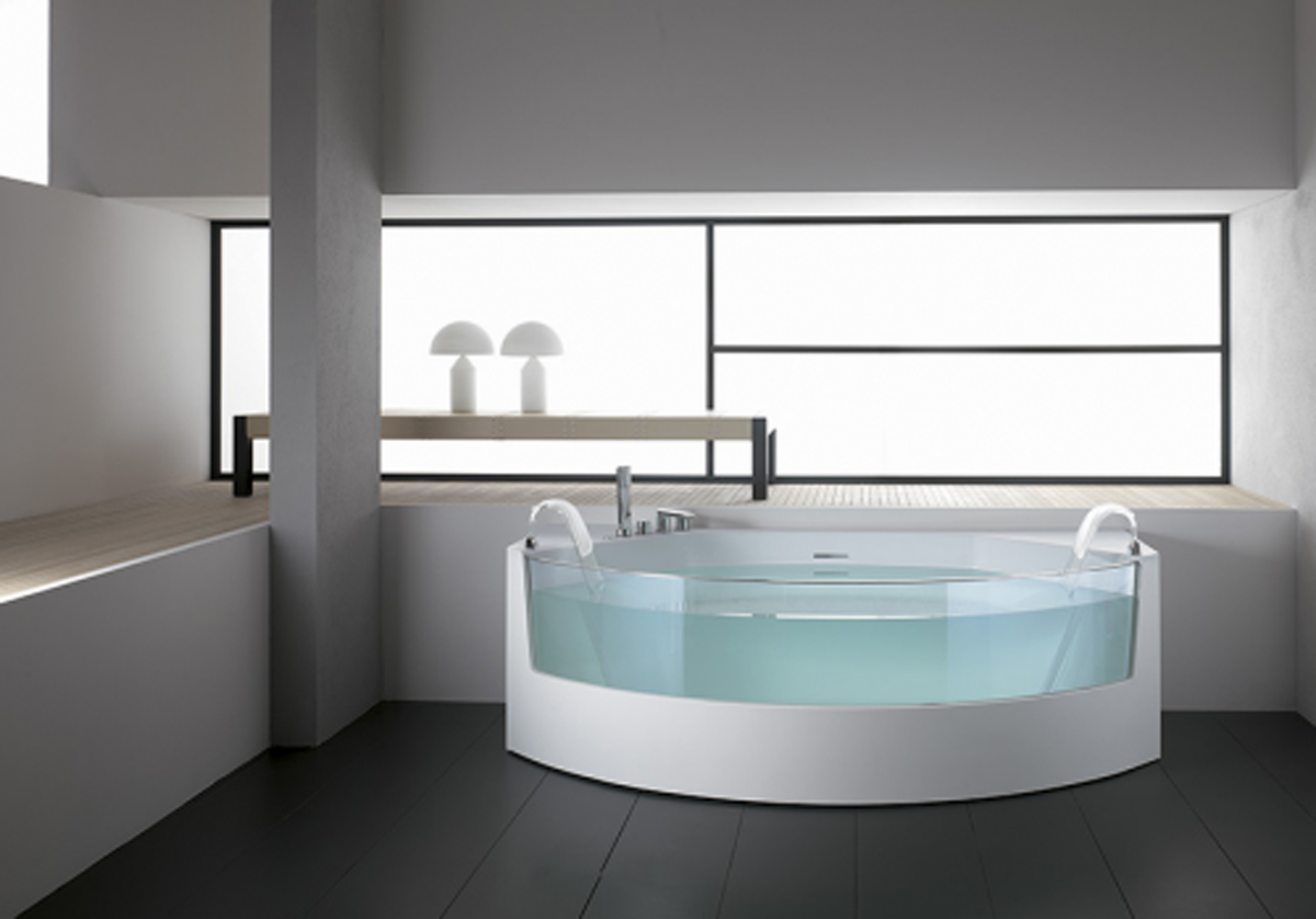 Modern bathtub design ideas for Walk in tub bathroom designs