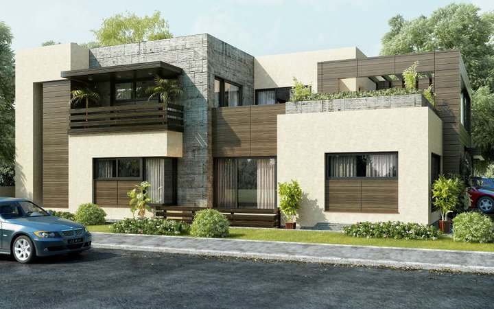 Front Elevation Beautiful Modern Style House Design Home