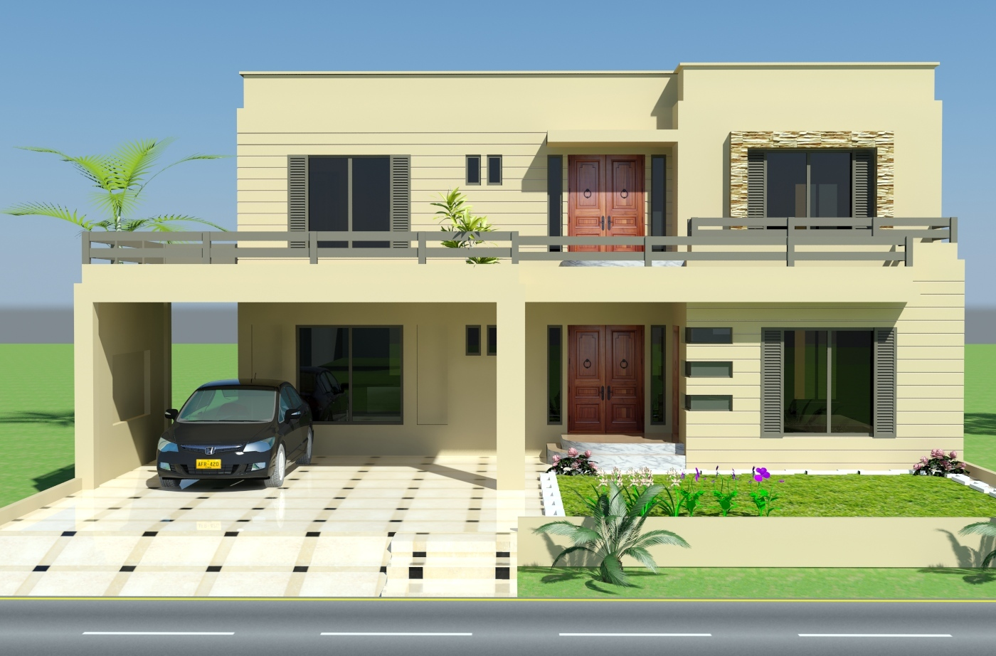 Simple front elevation designs the for Minimalist house elevations