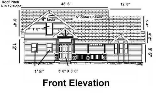 House Elevation Blueprint : What is front elevation