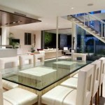 Beautiful Glass Dining Area