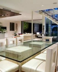 Beautiful Glass Dining Area