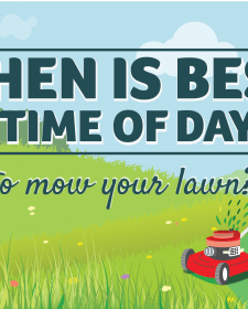When is the best time of day to mow the lawn?