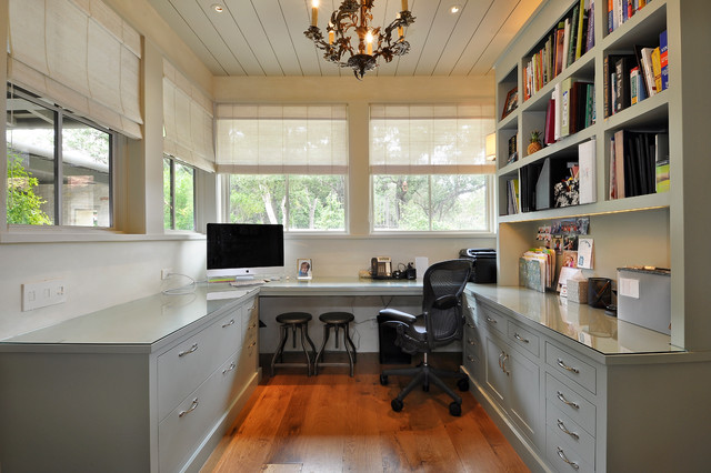 Home office ideas for those working from home for Long narrow office layout