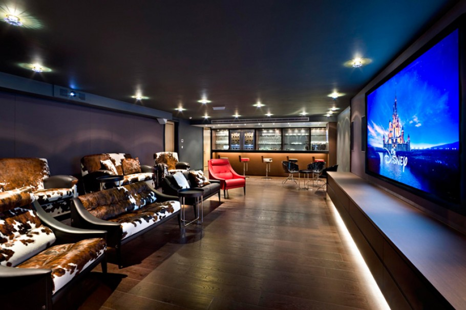Wood Cabin Home Cinema Design Wood Cabin Home Cinema Design ...