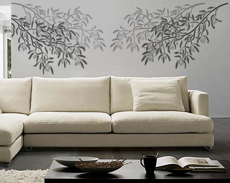 Stencils For Wall Decor : Trendy stencil wall fashion for your home