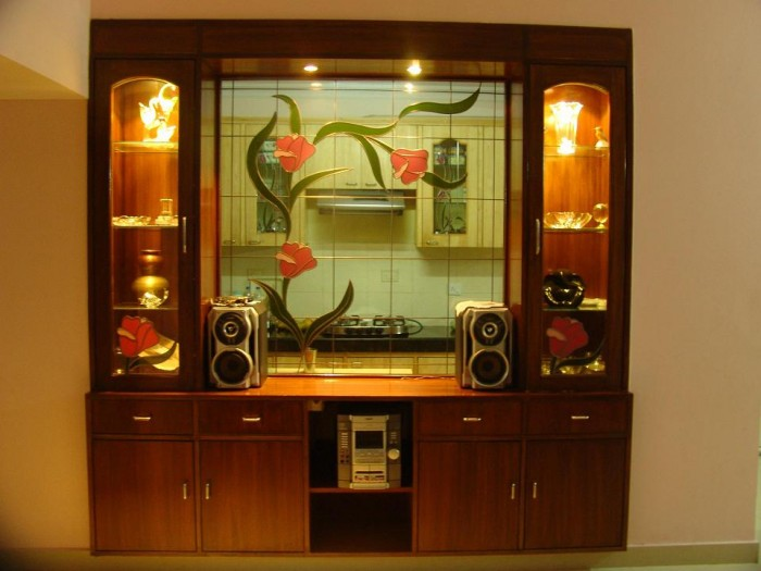 Crockery unit design ideas for Bedroom cabinet designs india