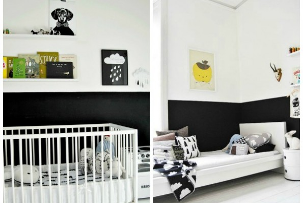 15 HALF PAINTED WALL DECOR IDEAS